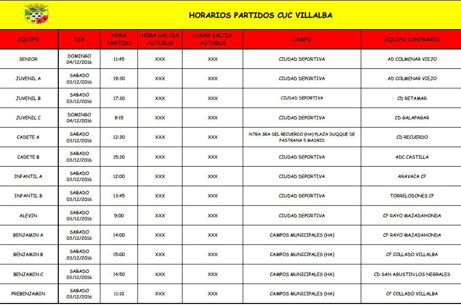 horarios173