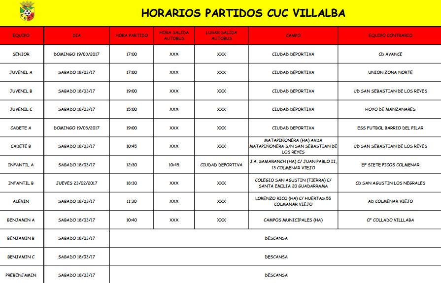 horarios18317